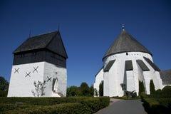 Oesterlars runde Kirche. Bornholm. Dänemark. Stockbilder