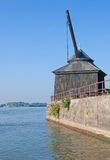 Oestrich-Winkel, Ruedesheim, le Rhin, Allemagne Images libres de droits