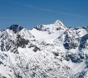 Oetztal Alps in Winter, Austria Stock Photography