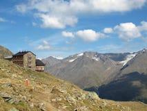 Oetztal: Capanna della montagna Fotografia Stock
