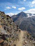 Oetztal: Percorso della montagna Fotografie Stock