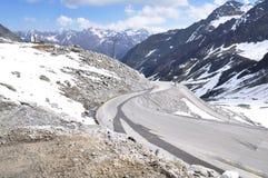 Oetztal Valley, Alpine Road And Chapel, Austria Stock Photo