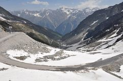 Oetztal Valley With Alpine Road, Austria Royalty Free Stock Photos
