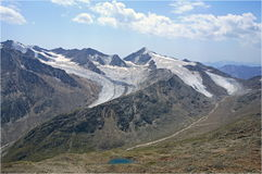 Oetztaler Alpen - glaciers Royalty Free Stock Photography