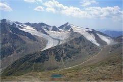 Oetztaler Alpen - gletsjers Royalty-vrije Stock Fotografie