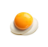 Oeuf au plat d'isolement Images stock
