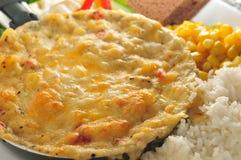 Oeuf au plat de casserole Photo stock