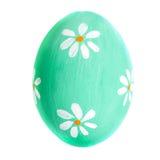 Oeuf coloré d'isolement sur la fin blanche de fond  Joyeuses Pâques Image stock