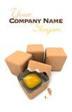 Oeuf cubique Photographie stock libre de droits