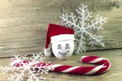 Oeuf dans le chapeau de Noël Photo libre de droits