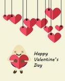 Oeuf de carte de Valentine Images libres de droits