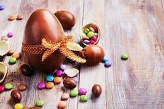 Oeuf de chocolat de Pâques photos libres de droits