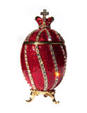Oeuf de Faberge d'isolement images stock