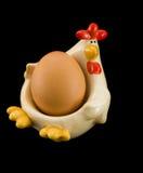 Oeuf de fixation de poulet. Photos libres de droits