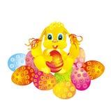 Oeuf de lapin et de pâques, illustration de vecteur Images stock