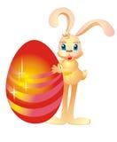 Oeuf de lapin et de pâques, illustration de vecteur   Images libres de droits