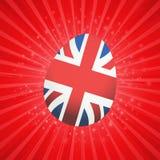 Oeuf de pâques britannique sur l'éclat rouge d'étoile illustration stock
