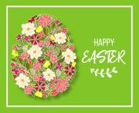 Oeuf de pâques décoré du modèle floral différent d'éléments Illustration de vecteur illustration stock