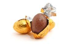 Oeuf de pâques de chocolat Photographie stock libre de droits