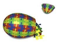 Oeuf de pâques de puzzle Image libre de droits