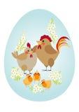Oeuf de pâques. Famille de poulet Photos stock