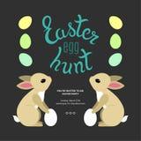 Oeuf de pâques Hunt Template Poster Image stock