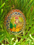 Oeuf de pâques peint coloré Photographie stock