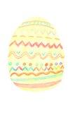 Oeuf de pâques peint par des crayons Images libres de droits