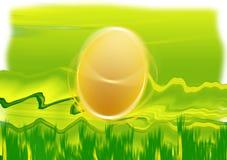 Oeuf de pâques sur l'herbe illustration de vecteur
