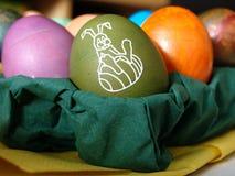 Oeuf de pâques vert clair Photos stock