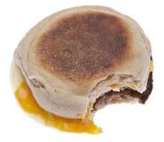 Oeuf de saucisse et sandwich à déjeuner de fromage photos stock