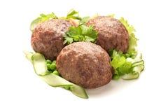 Oeuf enveloppé en viande hachée images libres de droits