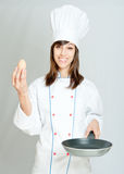 Oeuf et cuisinier Photo libre de droits