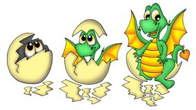 Oeuf et dragon Photo libre de droits