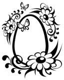 Oeuf et fleurs de pâques Image libre de droits