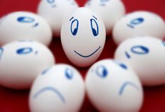Oeuf heureux Image stock