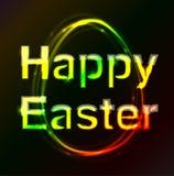 Oeuf heureux de plasma de Pâques images stock