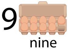 Oeuf neuf dans le carton illustration de vecteur