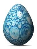 Oeuf peint bleu ingénieux coloré avec l'imitation d'aquarelle illustration libre de droits