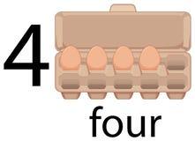 Oeuf quatre dans le carton illustration libre de droits