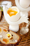 Oeuf Soft-boiled Photographie stock libre de droits