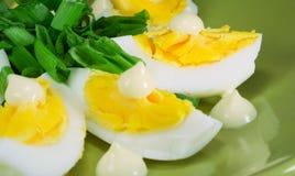 Oeufs avec la mayonnaise photos libres de droits