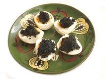 Oeufs avec le caviar Photographie stock libre de droits
