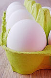 Oeufs blancs Image stock