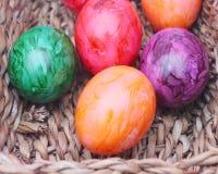 Oeufs colorés Photos libres de droits