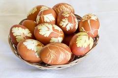Oeufs colorés de Pâques Image stock