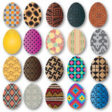 Oeufs colorés de Pâques Illustration de vecteur Tiré par la main Photographie stock libre de droits