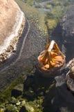 Oeufs d'ébullition en source thermale de Chaeson Image stock