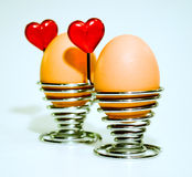 Oeufs d'amour Photo stock