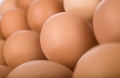 Oeufs dans le magasin, instruction-macro Image stock